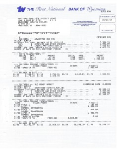 Riverview Bank Statement January 31 2014 Page 1