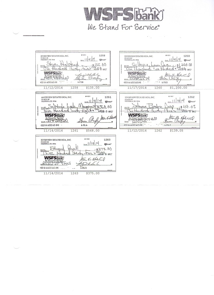 Riverview Estates Bank Statement November 30, 2014 Page 3