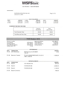 Riverview Bank Statement January 31 2015 Page 2