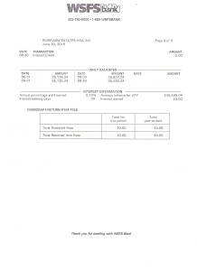 Riverview Bank Statement June 30 2015 Page 3