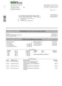 Riverview Bank Statement August 31 2015 Page 1