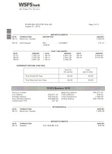Riverview Bank Statement August 31 2015 Page 2