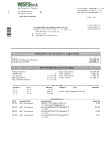 Riverview Bank Statement October 31 2015 Page 1