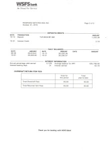 Riverview Bank Statement October 31 2015 Page 3